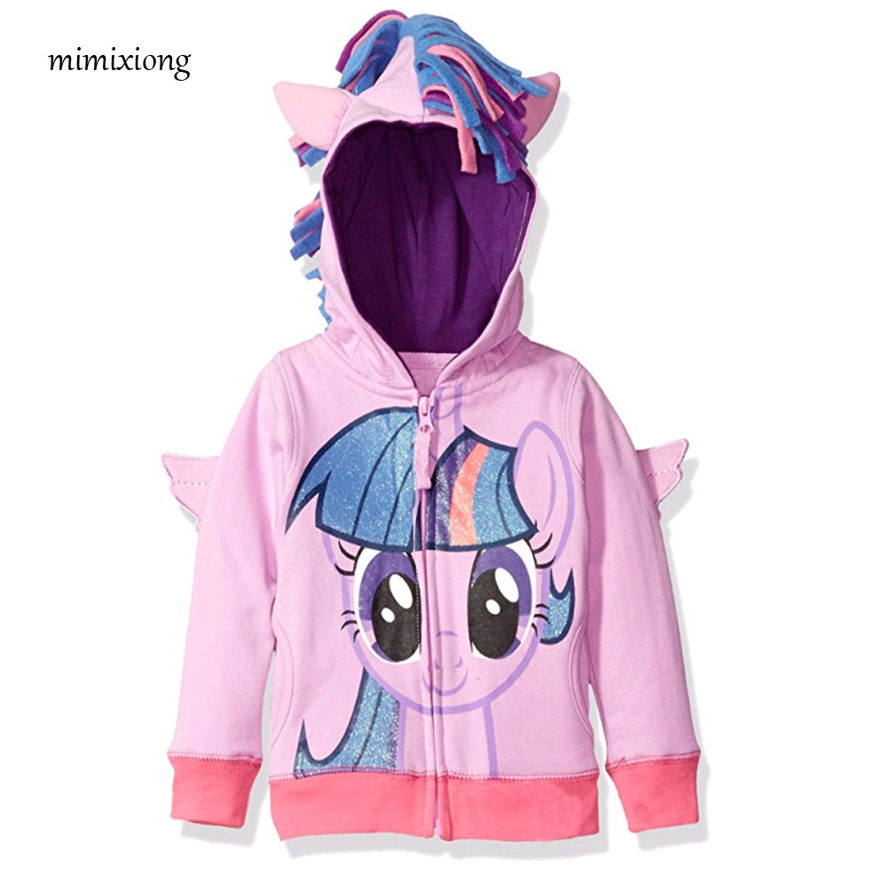 Mimixiong 2018 Meisjes Little Pony Big Girls Twilight Sparkle - Kinderkleding - Foto 1