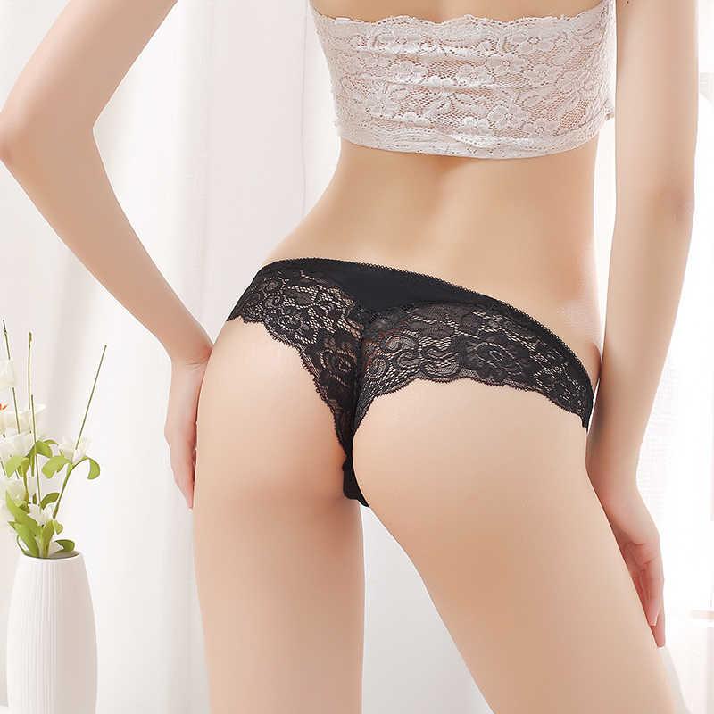 3 pièces/lot CMENIN Sexy dentelle culotte sans couture femmes sous-vêtements slips string tangas bikini femmes Transparent dame femme T retour P0039