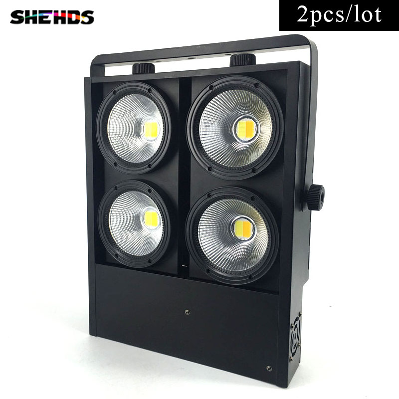 2 pcs/lot 4x100W blinder light 4eye COB LED Wash Light  High power DMX Stage Free & Fast Shipping blinder m45 x treme