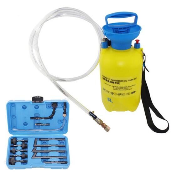 Ensemble d'outils de remplissage d'huile de boîte de vitesse automatique à commande manuelle de 8 litres avec adaptateur 13 pc pour FORD BMW BENZ VOLVO