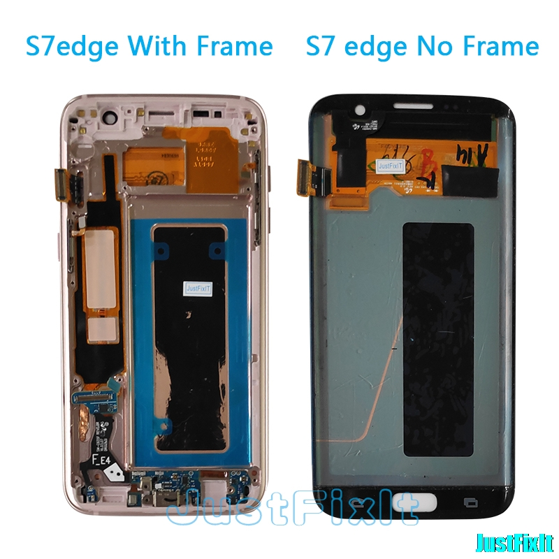 Original For Samsung Galaxy S7 Edge G935F G935A G935FD Defect Lcd Display With Touch Screen Digitizer 5.5'' Super AMOLED Gold
