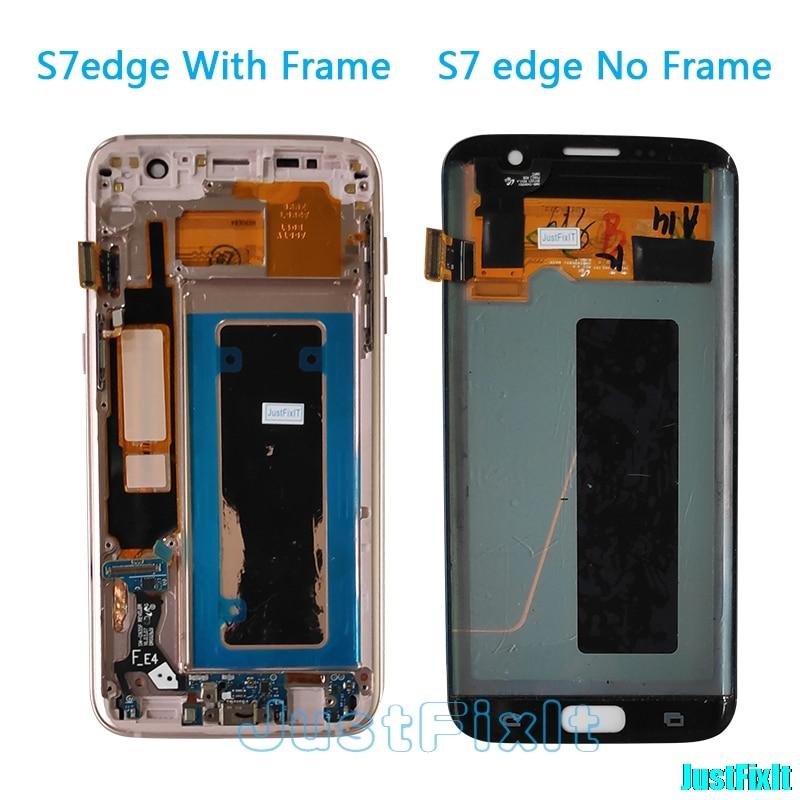 Original pour Samsung Galaxy S7 edge G935F G935A G935FD défaut affichage lcd avec écran tactile numériseur 5.5 ''Super AMOLED or