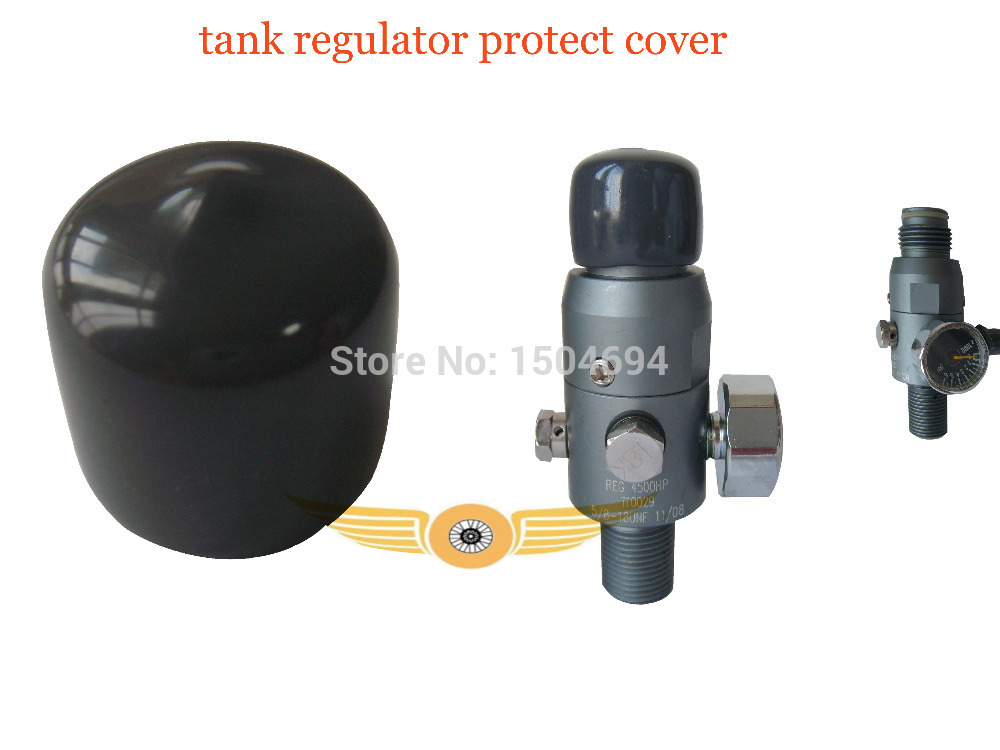 Free Shipping PCP Paintball Tank Regulator Thread Protect Cover 5pcs/lot