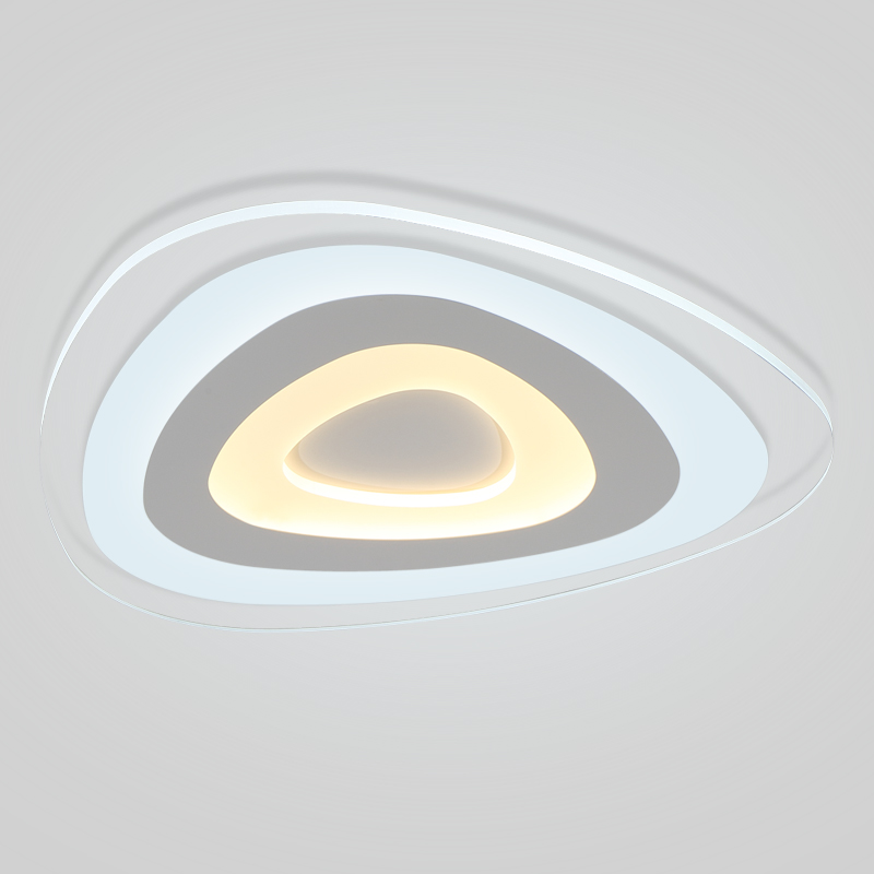 цена New Ultra thin modern LED ceiling lights Creative arc Lotus acrylic lamp home surface mount ceiling light deckenleuchten fixture