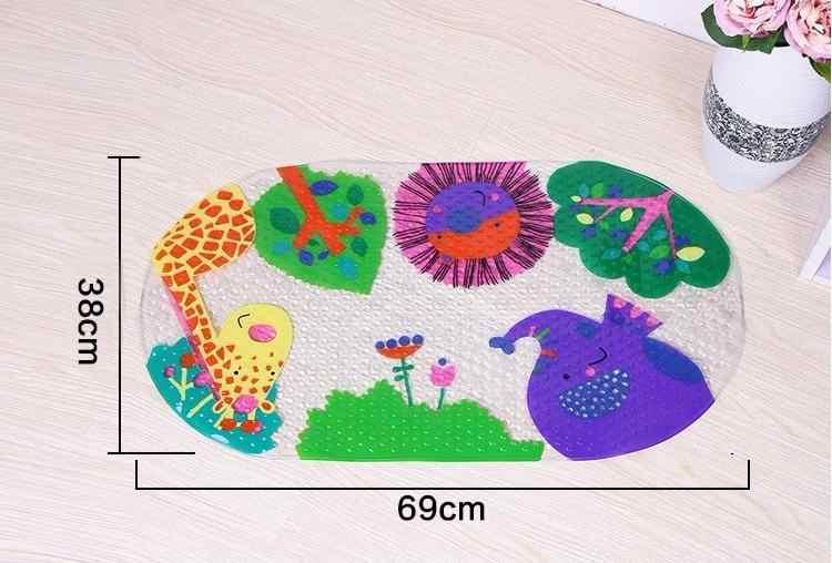 38*69CM PVC Shell antypoślizgowa mata do kąpieli prysznic z hydromasażem Pad z ssaniem Cartoon dziecko mata do kąpieli dywan łazienkowy maty mata łazienkowa