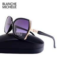 2019 de alta qualidade óculos polarizados marca feminina designer uv400 óculos sol gradiente condução lentes sol mujer caixa original