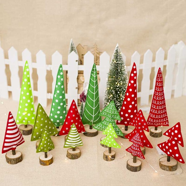 creative fabric christmas tree decoration ornaments christmas childrens gifts christmas home table decoration