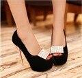 2014 nuevo estilo de tacón alto zapatos de plataforma de las mujeres de moda sexy vestido calzado de las señoras bombas K01247 venta caliente del tamaño grande 34-43