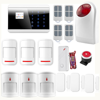 IOS Android APP LCD Smart Touch Keypad GSM PSTN SMS Home Security Voice Burglar Alarm System Auto Dial Wireless 8218G