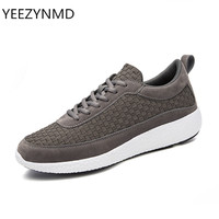 New Arrival Woven Men Shoes Casual Fashion Popular Lace Up Non Slip Durable Nice Male Footwear
