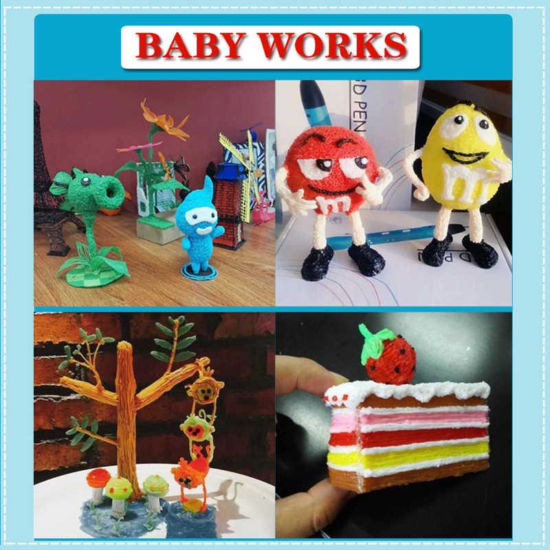 3D Printer Diy Dewang Seni dan Kerajinan 3D Printing Pen 3D LED dengan ABS/PLA Filamen Suhu Rendah anak-anak Hadiah USB 3D Pena