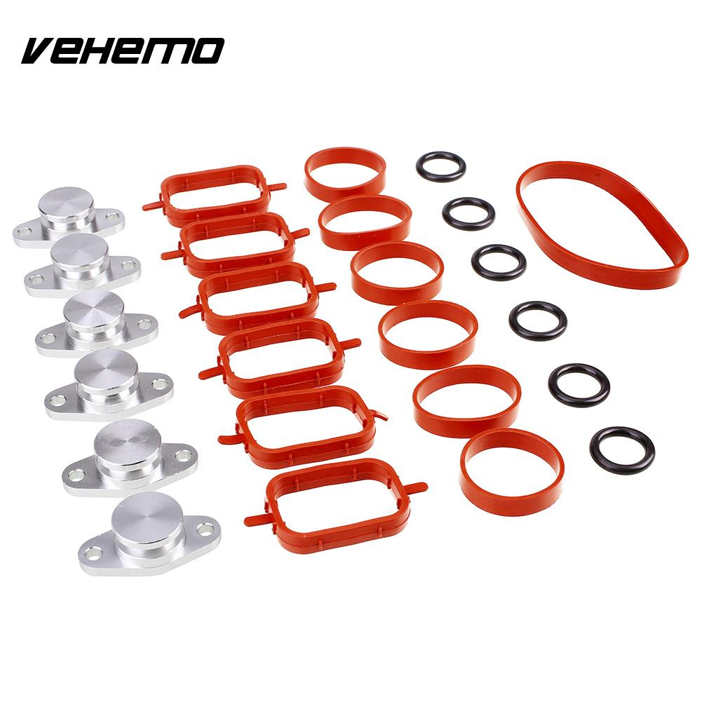 Vehemo Swirl Flap Blank 22mm Intake Manifold Seal Ring Spare Swirl Flap Blanking Plate Premium for BMW M57 цены