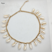 Купить с кэшбэком New Hot Sale Sea Shell Choker Necklace Women Natural Shell Jewellery Bohemian Simple Chocker Neckless For Girls Best Gift