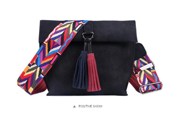 EXCELSIOR Women's Bag Scrub PU Crossbody Bags Luxury Handbags Women Bags Designer bolso mujer Colorful Strap sac a main femme 13