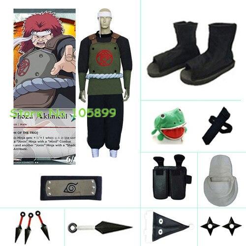 Chouza Akimichi font b Cosplay b font Costume Shoes Accessory set from font b Naruto b