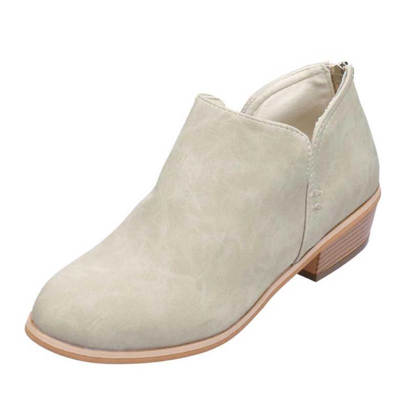 Новинка 2018 года; Женская Осенняя обувь; модные однотонные кожаные Ботинки martin; короткие ботинки; A0531 #30
