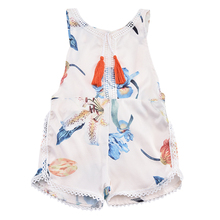 2017 New Design Newborn Baby Girls Romper Summer Style Clothes Costume Overalls Lace Floral Tassel Jumpsuit