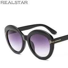 4ecee113a0509 REALSTAR 2018 Fashion Round TOM Designer Sunglasses Women Brand Vintage  Luxury Quality Sun Glasses Female Shades
