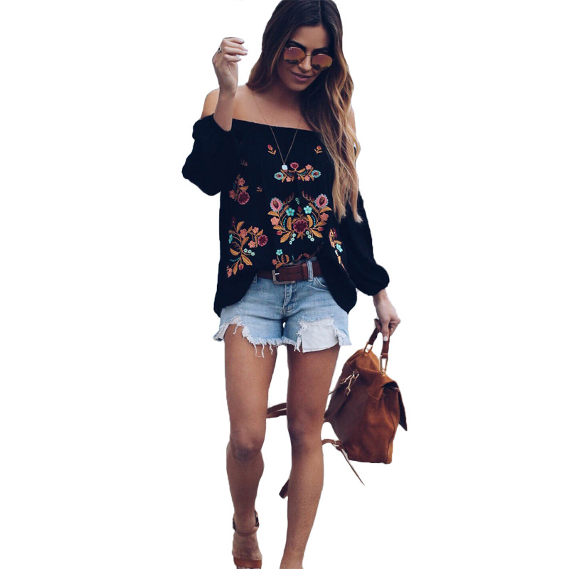 women blouse fashion 2019 female womens top shirt embroidery casual lantern sleeve elegant popular ladies clothing top 90s in Blouses amp Shirts from Women 39 s Clothing
