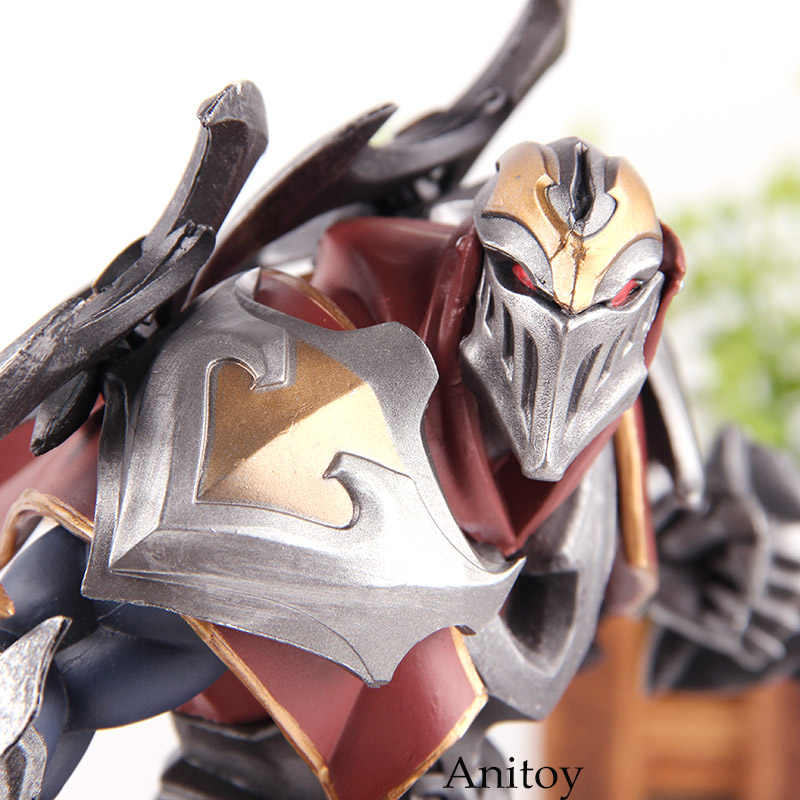 Riot Games The Master of Shadows Zed Unlocked 005 Figure Action Zed Toy PVC  Collection Model Toys