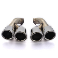 2pcs/set High quality Modified Car Vehicle Exhaust Tail Muffler Tips 304 Stainless Steel Pipes For Porsche 14 Cayenne
