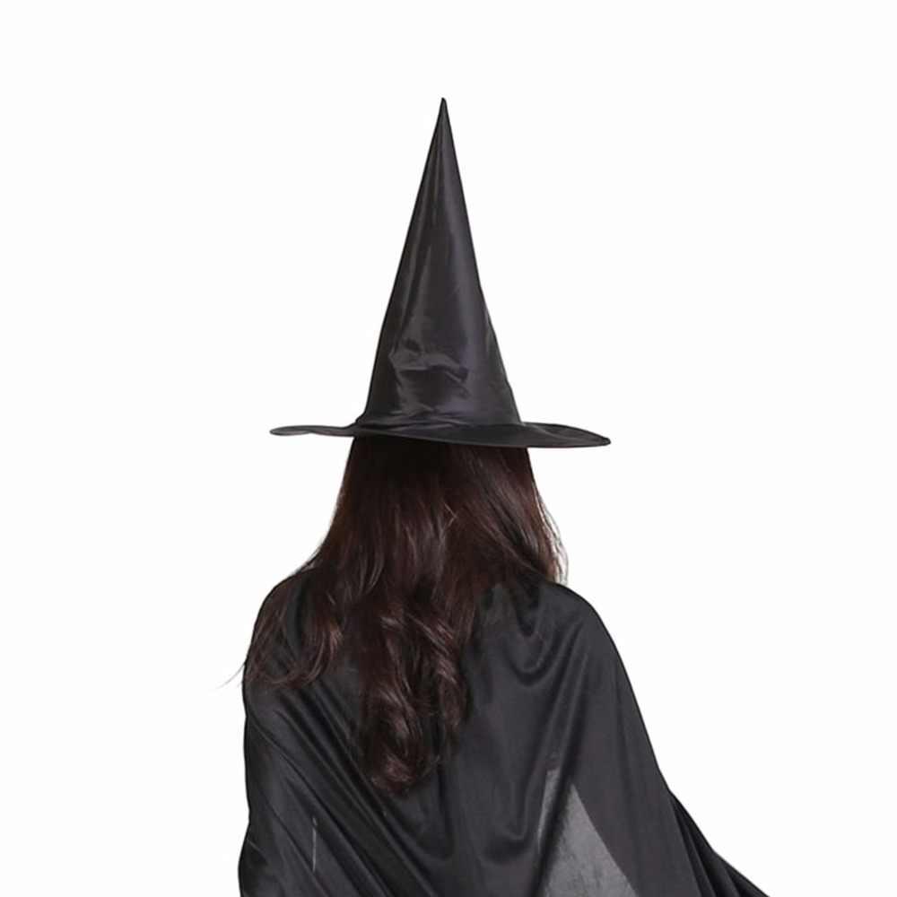 Новинка 2017 года, хеллоуин, ткань Оксфорд, ведьма колдун, шляпа Волшебная Шляпа, шапки волшебника, вечерние игрушки, косплей для взрослых и детей, черная остроконечная шляпа