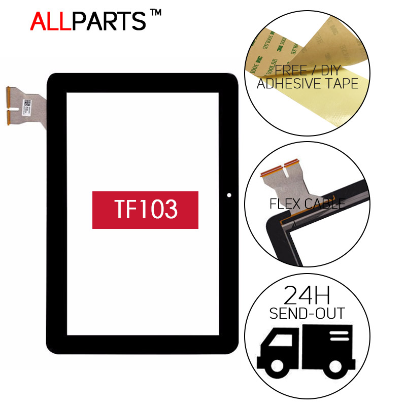 ORIGINAL 10.1 inch TESTED For Asus MeMo Pad ME103 Touch Screen TF103 K010 ME103C Digitizer Replacment Black Free Adhesive
