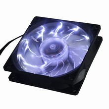 2Pcs Gdstime 90mm PC Computer Case Cooler 15 White LED Light CPU Cooling Fan