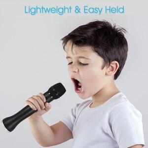 Image 5 - المهنية ميكروفون الكاريوكي 3 في 1 تسجيل مكبر الصوت اللاسلكي مع بلوتوث للهاتف لباد مكثف ميكروفون XIAOKOA