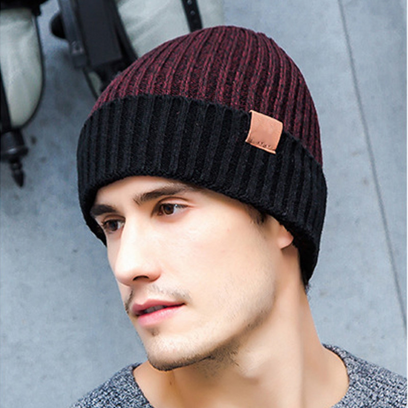 Cotton Crocheted Beanie Hat For Men Women 2017 Winter Caps Gorros Ladies Warm Fleece Hats Unisex Knitted Skullies Beanies Bonnet men s skullies winter wool knitted hat outdoor warm casual solid caps for men caps hats