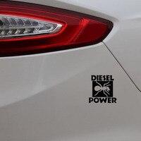 black silver YJZT 15CM*15CM DIESEL POWER Funny Vinyl Decals Car Sticker Black/Silver C3-1024 (3)