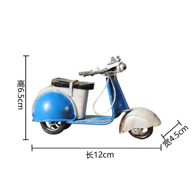 VILEAD American Little Sheep Iron Motor Figurines Vintage Home Decor Motorcycle Roman Holiday Souvenirs Christmas Decoration 6