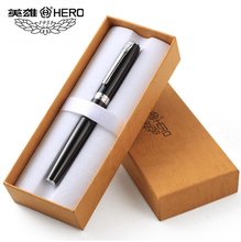 Free Shipping Hot Selling Genuie Hero 382 Luxury Metal Ink Fountain Pen Office Executive Birthday Gift Pen genuie left