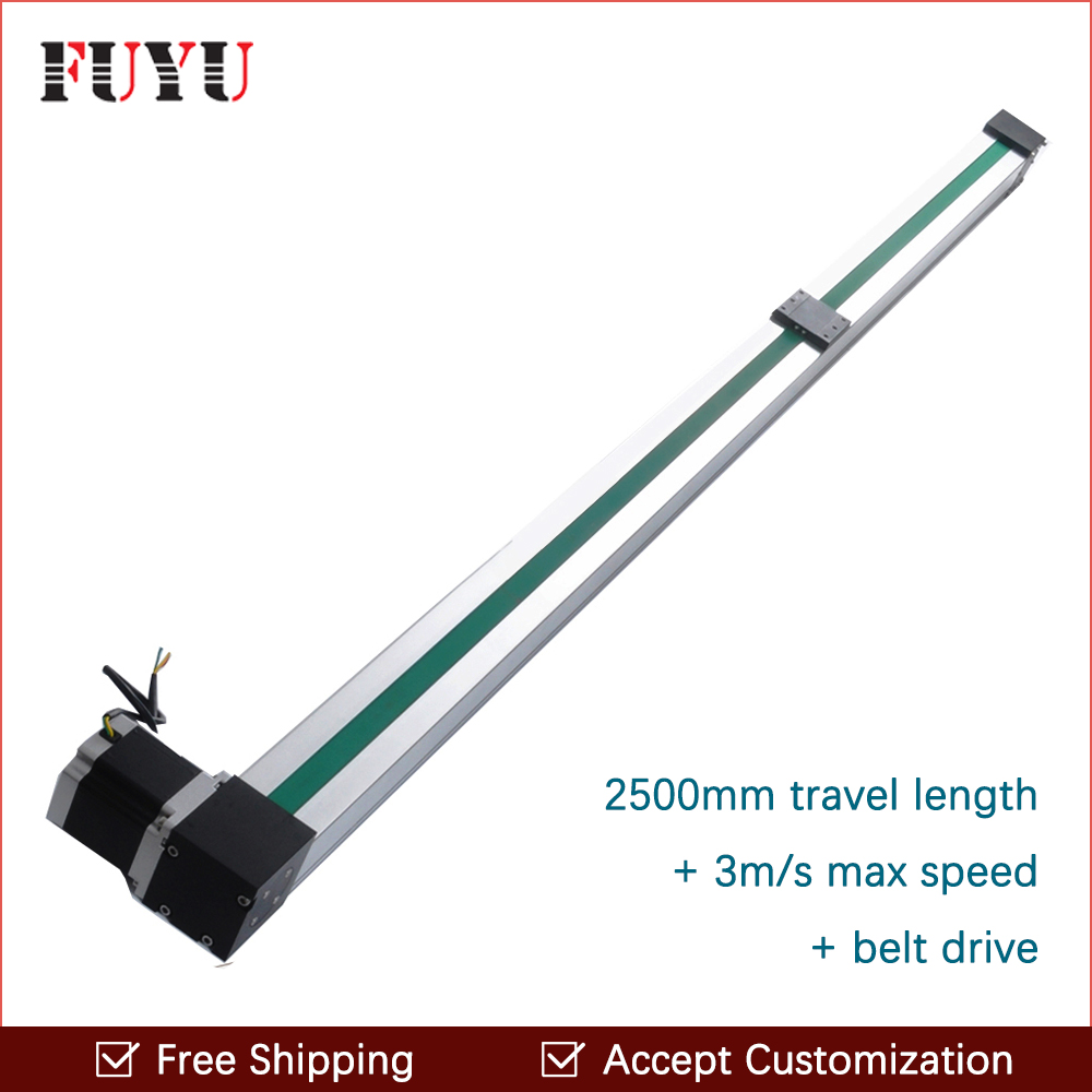 Free Shipping 2 5m Effective Travel Stepper Motor Belt