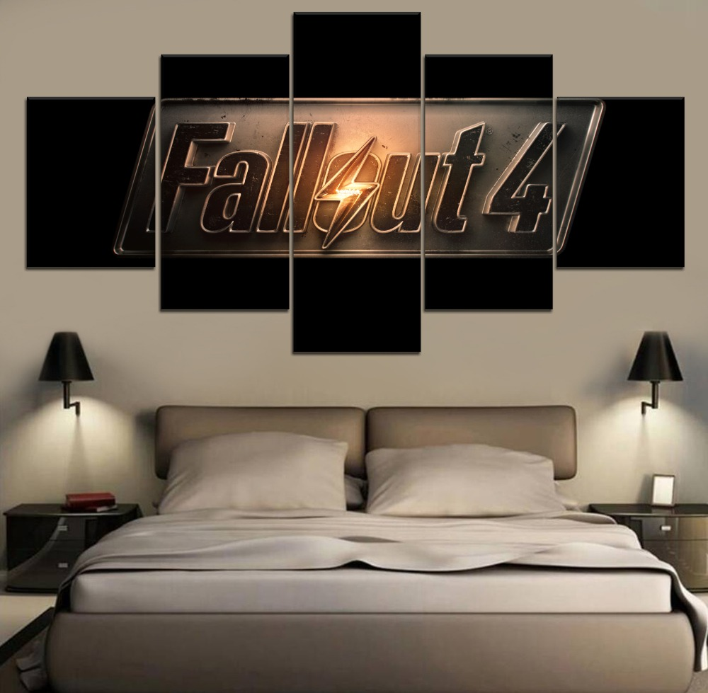 Modern Fallout 4 Game 5 Piece Paintings Wall Art Canvas Decor Painting HD Print Home Room Artwork