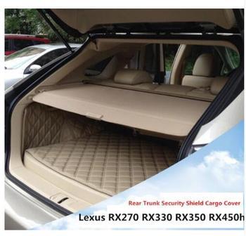 Hohe Qualit Auto Hinten Trunk Cargo Abdeckung Sicherheit Schild Bildschirm schatten Fit Für Lexus RX270 RX350 RX450h 2007-2015 auto