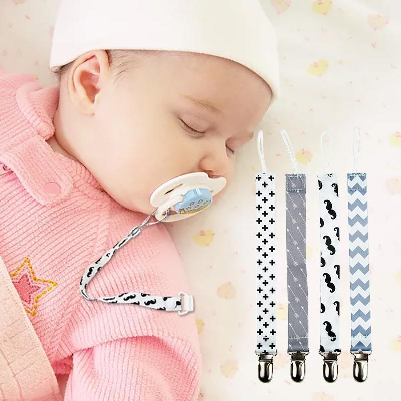 4Pcs Baby Pacifier Dummy Clip Nipple Holder Kids Pacifier Clips Soother Holder