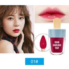 New Hot NOVO Cute Ice Cream Lip Tint Makeup Red Liquid Matte Lipstick Pigment Nu