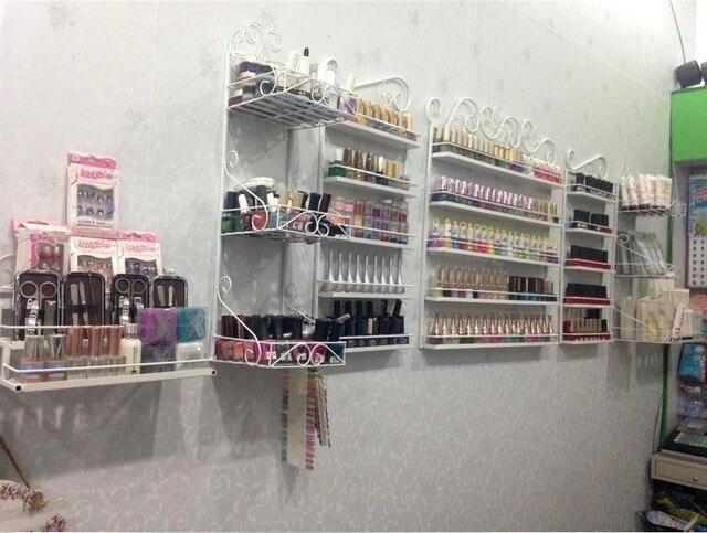 Iron Nail Polish Rack Fine Jewelry Display Cabinets Wall S Cosmetic Stand