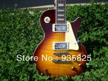 Musical Instruments Wholesale Gbson Standard Les Sunburst for Paul Lp Electric Guitar Chinese Tiger Stripes free Shipping !