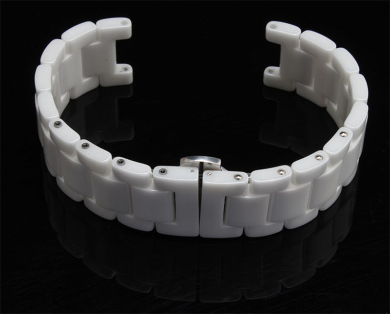 3af1c056c1 Concave End Special Watch band Watch accessories Ceramic white watchband  diamond watch general 16mm 18mm 20mm