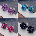 Two Side Wearing Stud Earrings Double Faced Earrings Bulk Jewelry Alloy Aluminum flower ornament plated stoving varnish