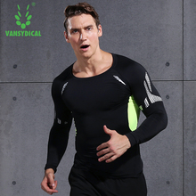 Mens shirt compression sports tight Shirt Fitness Men Crossfit T-Shirt Long Sleeve running GYM tops