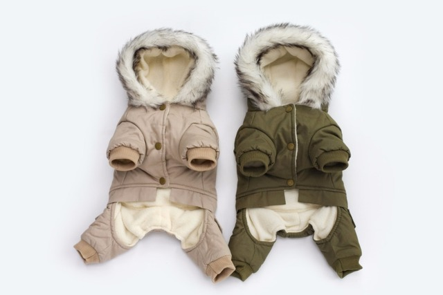New Thickness Hooded Driver Style Pet Dogs Four Legs Cotton Winter Coat  Free Shiping By CPAM Warm Small Puppy Dogs Clothing 1