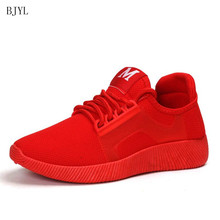 BJYL 2019 Spring New Designer Wedges Red Black Platform Sneakers Women Shoes Casual Air Mesh Female Flats For Woman B137