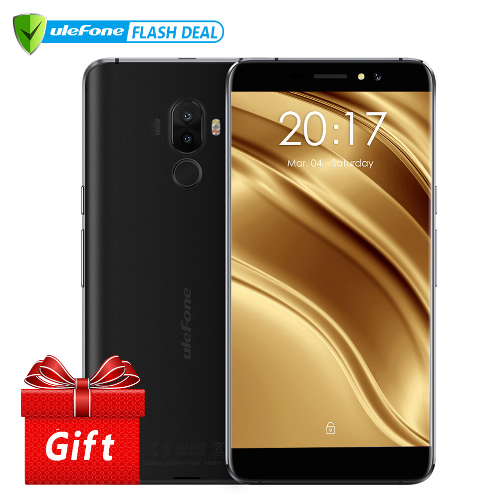 Ulefone S8 Pro Оригинальный телефон Двойная камера 13MP+5MP 5.3 дюймов HD MTK6737 Quad Core Android 7.0 2 ГБ + 16 ГБ Сканер отпечатков пальцев 4G Смартфон