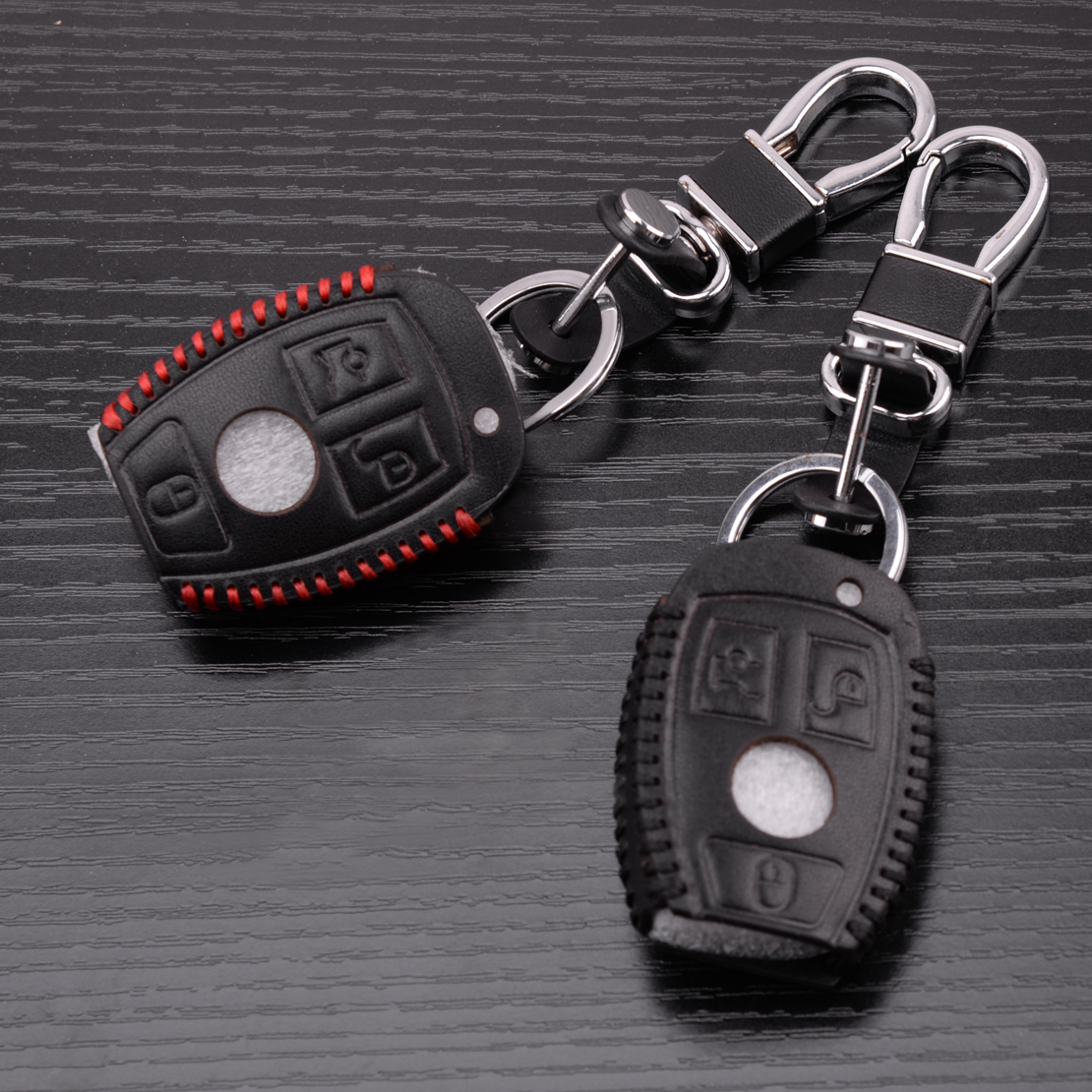 CITALL PU Leather 3 Buttons Remote Smart Key Cover Case Holder Fit For Mercedes Benz 3 4 Buttons C E S G