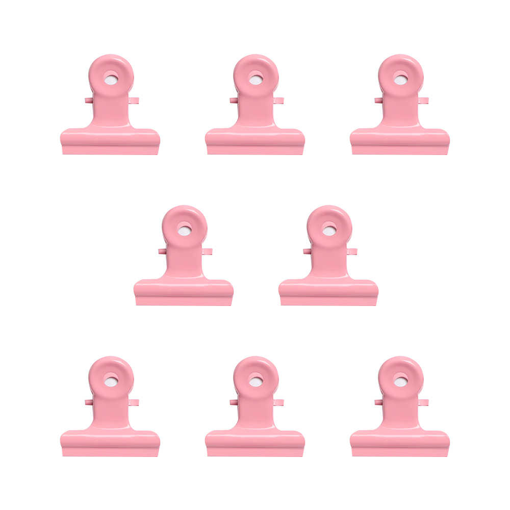 5PCS/set Creative Cute Pink Metal Clips Office Accessories Paper Holder Photo Note Clip Binder Sealing Multifunction Poster Clip