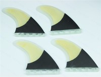 Performance Core Bamboo Veneer And Carbon Fiber Thruster (4 fin set) Future Base G5 Size Surfboard Fins