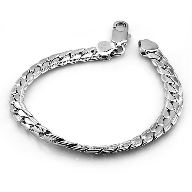 Unique Gift For Lover 925 Sterling Silver Bracelets Women Men Jewelry Whole 7 Mm 19cm
